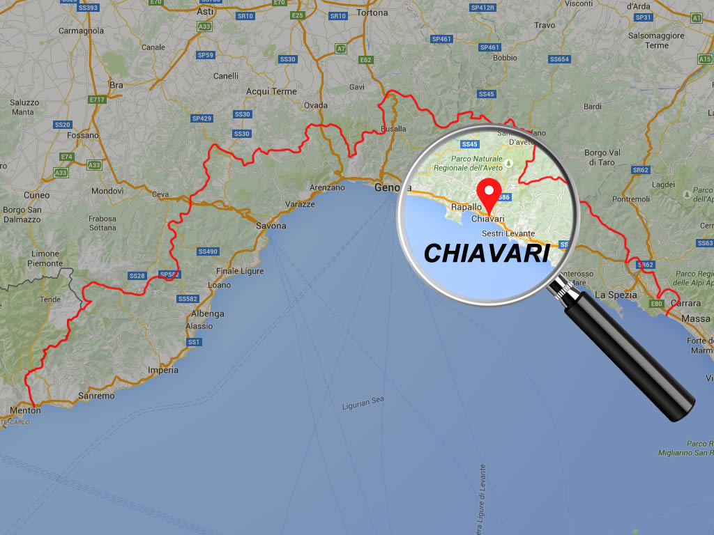mappa liguria Chiavari