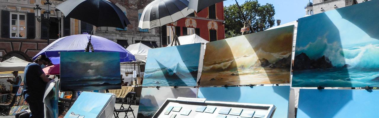 artisti di strada Chiavari piazza Mazzini